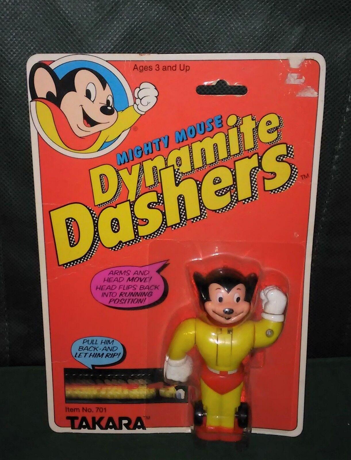 Mighty Mouse Dynamite Dashers Takara leksaksmynta på myntbubbla 1981