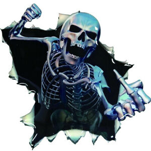 Creative-3D-Skull-Hood-Thriller-Trunk-Rear-Window-Decal-Sticker-Car-Accessories
