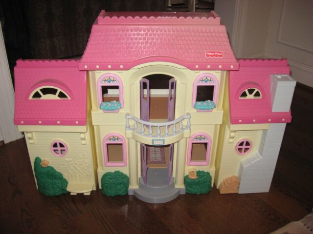 1997 Fisher 74618 Loving Family Dollhouse Pink 1st Story Windows Set