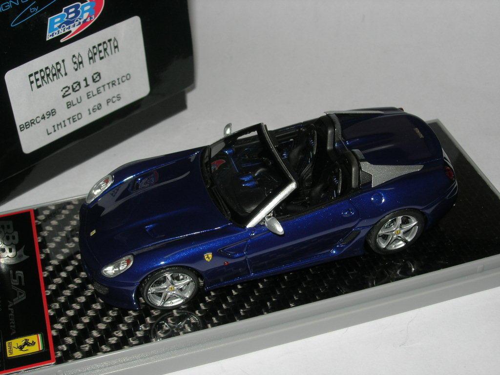 BBR models 1 43 BBRC49B ferrari SA SA SA geöffnet 2010 Electric bluee Ltd 160 pcs Neu ce2cdb