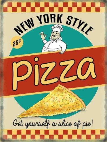 3 sizes - Small // Large and Jumbo Metal Wall Sign Pizza Retro Diner