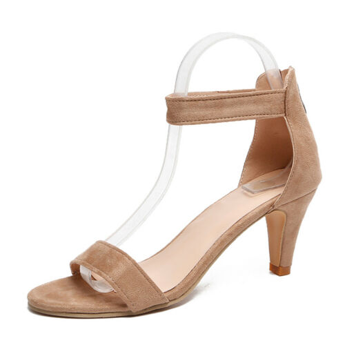 Summer Sandals Fish Mouth Peep Toe Women Sandals Pu Suede High Heels Woman Shoes