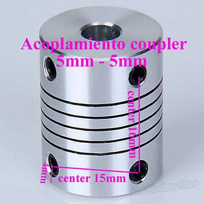 Acoplamiento coupler 5 a 5mm nema 17 coupling reprap cnc 3d printer prusa mendel