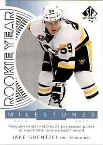 2017-18 Upper Deck SP Authentic Rookie Year Milestones Jake Guentzel #RYM-JG