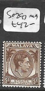 MALAYA STRAITS SETTLEMENTS (PP0110BB) KGVI DIE II 5C SG 297 MOG