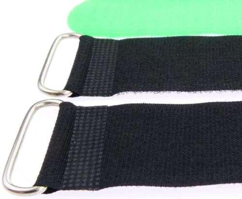 50x Klettband Kabelbinder Öse 50 cm x 50 mm neon grün Klettbänder Kabelklettband