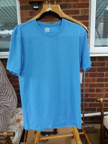 Weatherproof 32 Deg Cool Mens TShirt Quick Dry SportsTop Heather Ocean Blue