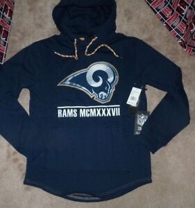 the best attitude aa4c4 95a8b Details about NEW NFL LA Los Angeles Rams Hoodie Hooded Sweatshirt S Small  Women Ladies NWT
