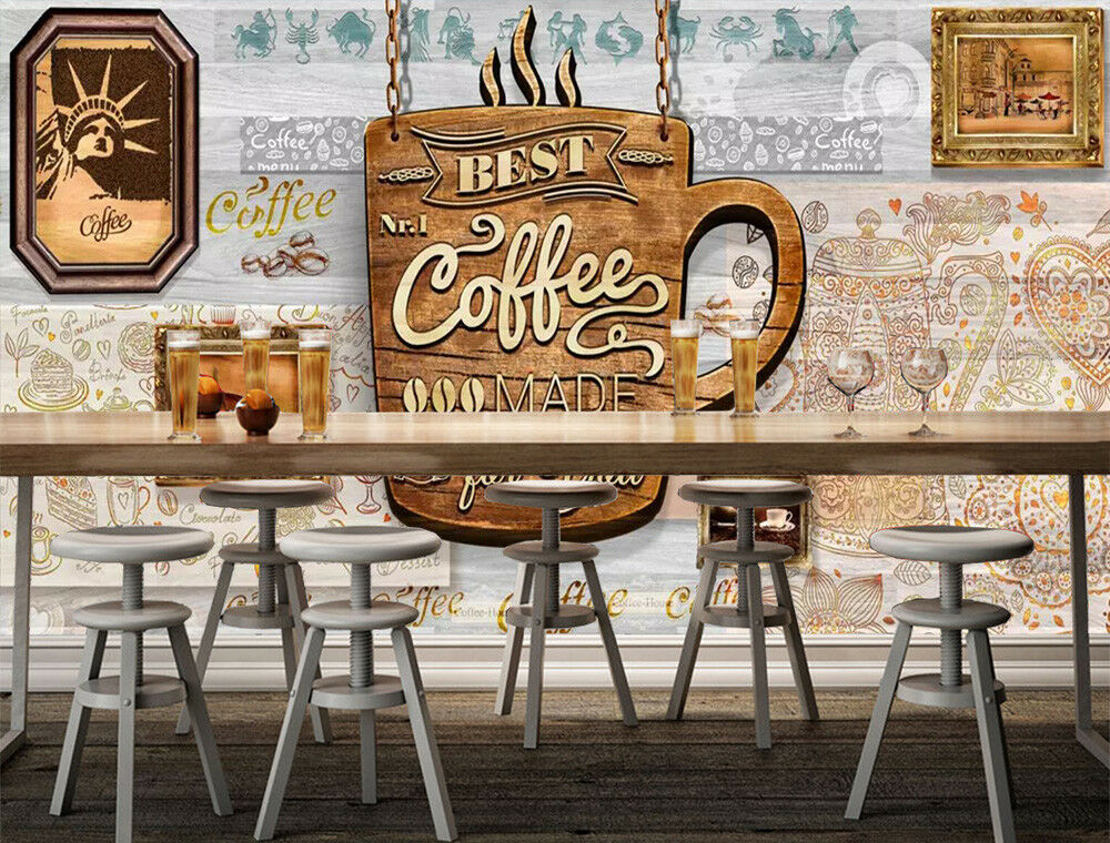 3D Coffee Pattern 1 Wall Paper Exclusive MXY Wallpaper Mural Decal Indoor AJ