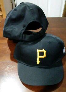 New Adult Twill MLB Pittsburgh Pirates Black Yellow Home