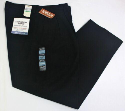 Men/'s Dockers Best Pressed Signature Khaki Pleated Classic Fit Cotton Pants