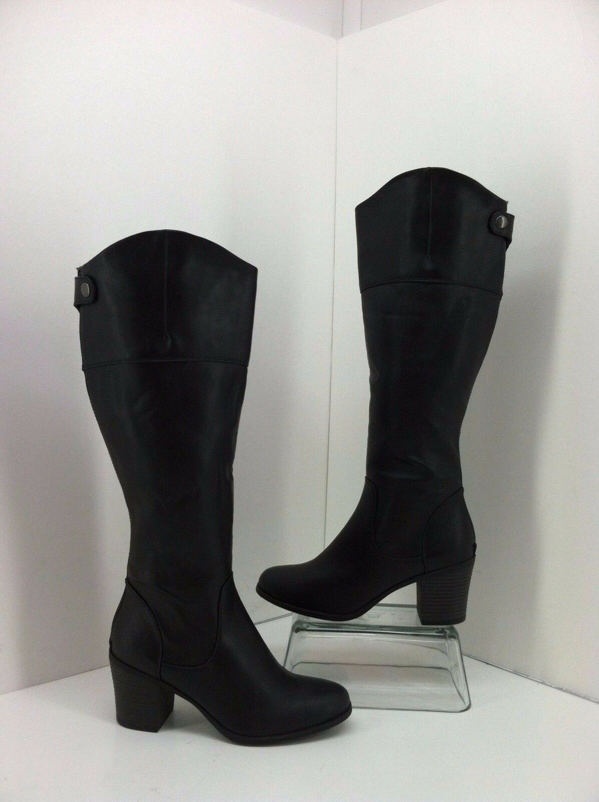 White Mountain Silo Black Tall Back Zipper Boots Size 5.5 M