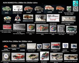 ALFA ROMEO + LANCIA  Pins Abzeichen 1980er bis 2010er Jahre AUSSUCHEN