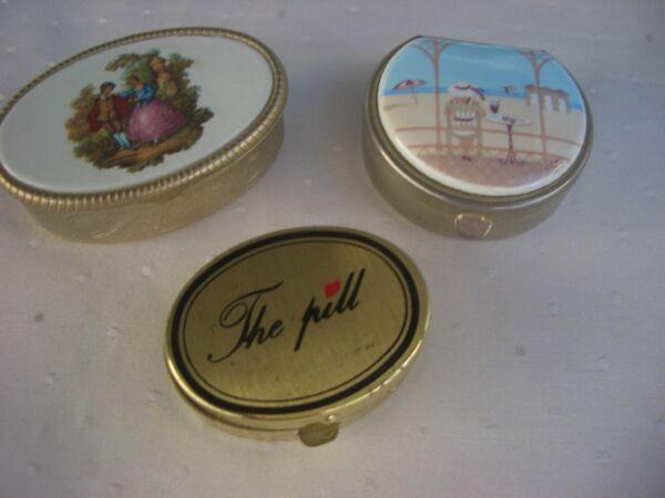 3 Kleine Pillendosen Aus Metall Für Sammler Elegante Form