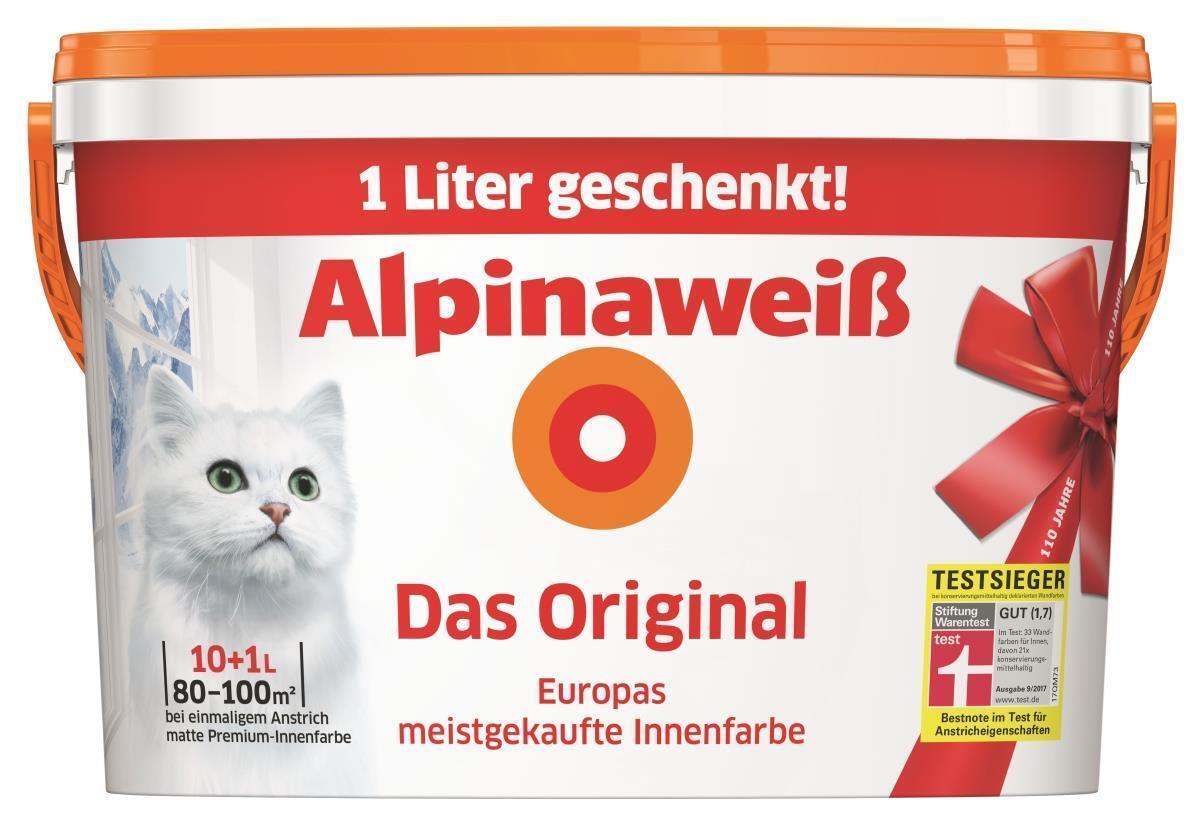 Alpinaweiß Das Original Innenfarbe Wandfarbe Alpinaweiß matt 11 L Weiss AKTION