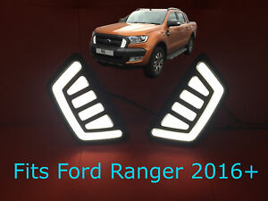 ford ranger t6 raptor 2016 front led drl 39 s daytime running lights ebay. Black Bedroom Furniture Sets. Home Design Ideas