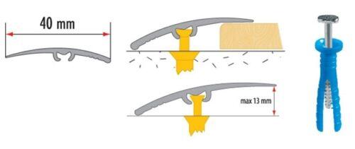 Champagne porte en aluminium barres de seuil bande transition trim différentes tailles