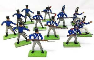 Vintage-BRITAINS-NAPOLEONIC-DEETAIL-FRENCH-Waterloo-Infantry-x-12