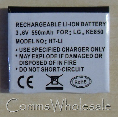 Replacement 550 mAh Battery For LG KE820, LG KE850, LG Prada  - NEW