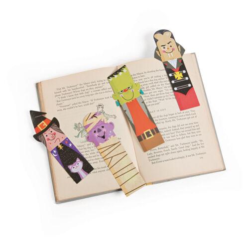 48 Halloween Bookmarks Birthday Party Favor Vampire Witch Mummy Frankenstein