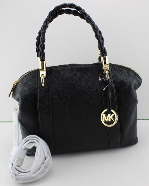 57bd2cbe13cf NEW AUTHENTIC MICHAEL KORS NAOMI BLACK LG LARGE BOWLING SATCHEL WOMEN'S  HANDBAG