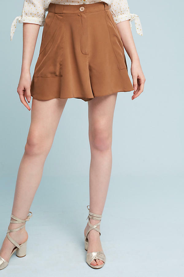 Anthropologie (Elevenses) Hanky-Hem Silk Shorts (8) NWT -  98.00