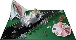 geldgeschenke zur silber hochzeit brautpaar im auto 25. Black Bedroom Furniture Sets. Home Design Ideas