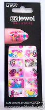 Kiss Nail Stick on Strips Full 3D Jewel Strips # DMT 145 Love Graffiti