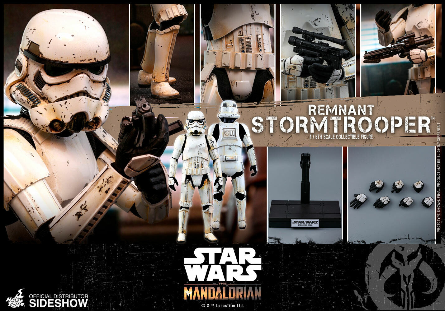 Sideshow Hot Toys Star Wars Remnant Stormtrooper 1/6 Scale Figure TMS011 on eBay thumbnail
