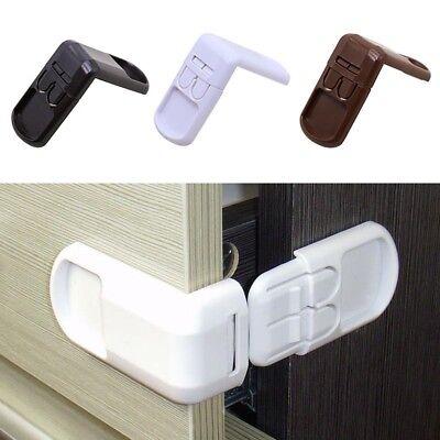 5pcs Kids Wardrobe Fridge Cabinet Drawer Door Cupboard Box Baby Lock Safe Latch