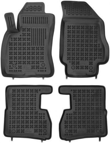 4-teilige schwarze Gummifußmatte für FIAT Doblo II OPEL Combo D