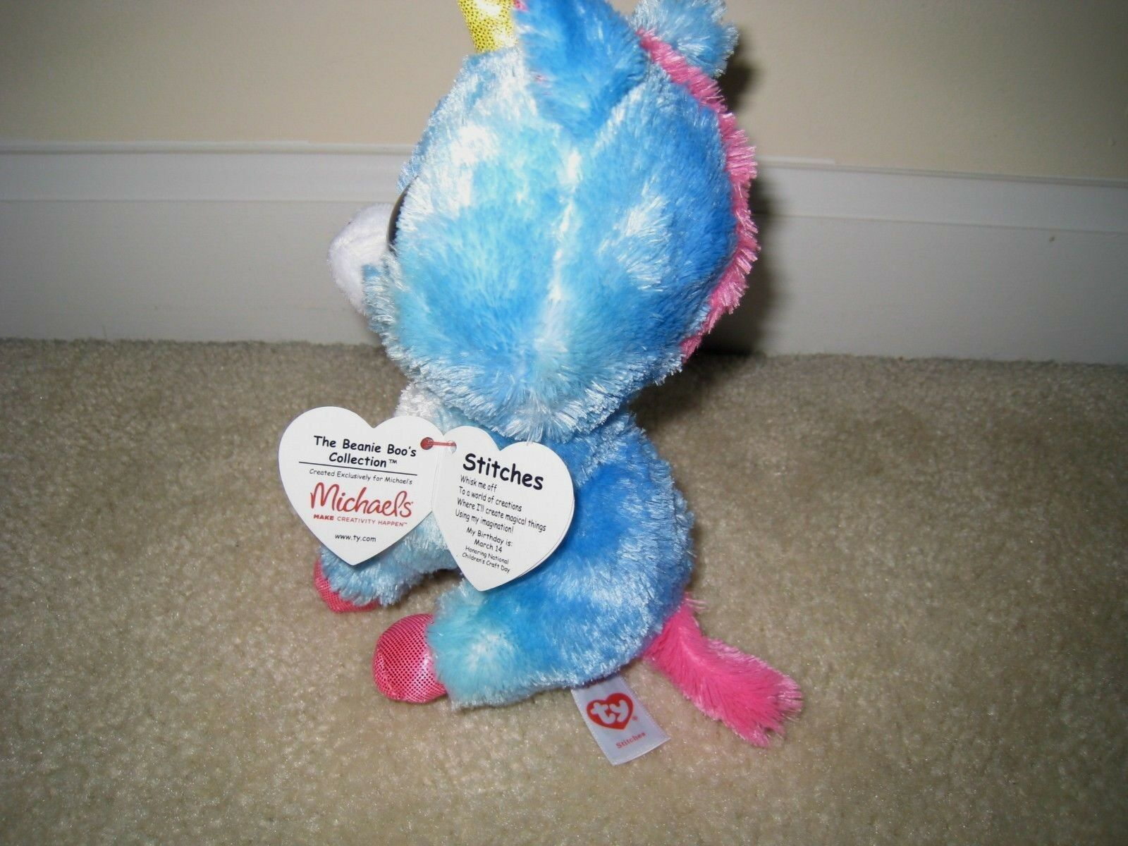 3d04807755a Ty Beanie Boo Stitches The Unicorn Michaels Excl. 6 Inches for sale online