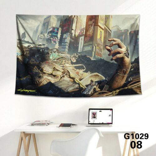 Cyberpunk 2077 Poster Wall Art Canvas Posters Print Anime Home Decor Gaming Neon