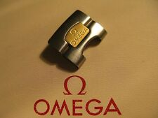 NOS Omega 17mm Stainless Steel & 18K Gold Bracelet Head - Part No. DB1455/848