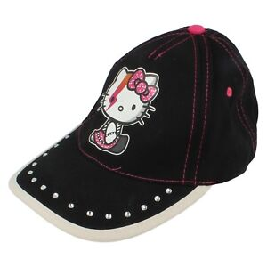 8be794dd7 Details about Girls Hello Kitty Baseball Cap Black HK3127 Retail Price