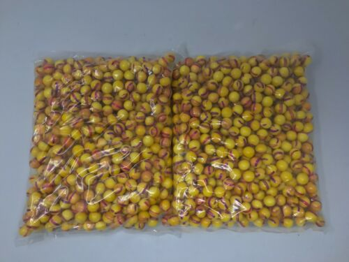 Order Yellow//Purple .68 Caliber Paintballs Yellow Paint Fill 1000 New In Bag!