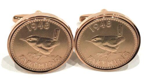 Premium Para hombre Farthing Moneda Gemelos de monedas antiguo hecho en gemelos 37-56 los RGD
