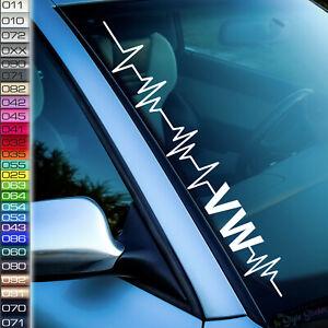 Pulsschlag-Aufkleber-LOVE-my-Volks-Auto-Frontscheibenaufkleber-Tuningsticker-F86