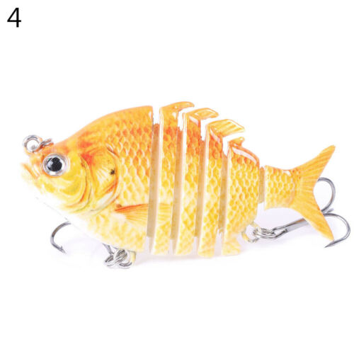 8g 6 Sections Artificial Fishing Lure Wobbler Fish Swim Bait Tackle Tool Popular
