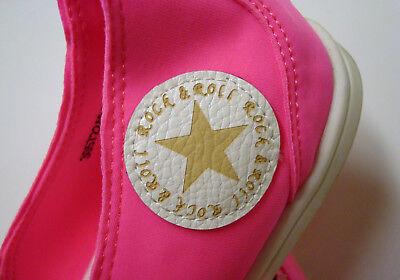 Ella Cruz Slipper Ballerinas gummierte Schuhkappe neonfarbend Gr.38 VK EUR 49,90