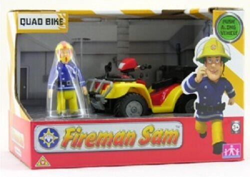 Feuerwehrmann sam drcken auf quad - bike -