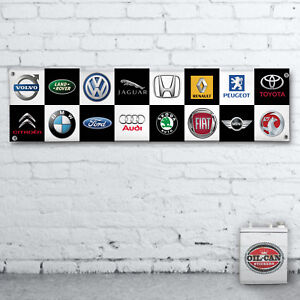 CAR-LOGOS-PVC-BANNER-workshop-garage-office-showroom-mancave-1700x430mm