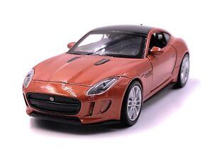 Jaguar-Jag-F-Type-maqueta-de-coche-auto-Orange-escala-1-34-con-licencia-oficial