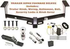2006-2012 TOYOTA RAV4 TRAILER TOW HITCH PKG DELUXE+ WIRING + HITCH LOCKS & COVER