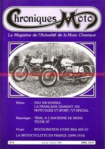 CHRONIQUES-MOTO-4-GUZZI-V7-Special-Sport-NSU-500-BSA-A7-Francaise-Diamant-350