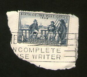 postage stamp australia birth of the post office 1809 4d blue ebay. Black Bedroom Furniture Sets. Home Design Ideas