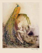 Spanish Girl Lady Tambourine Music by Louis Icart 16X20 Vintage Poster FREE S//H