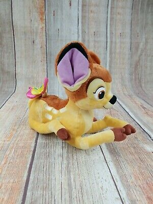"disney bambi lying down plush toy with butterfly 12""  ebay"