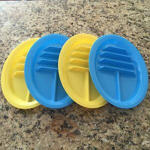 Image is loading Set-of-4-Taco-Holder-Stand-Up-Divider- & Set of 4 - Taco Holder Stand Up Divider Plates Multi Colored Plastic ...