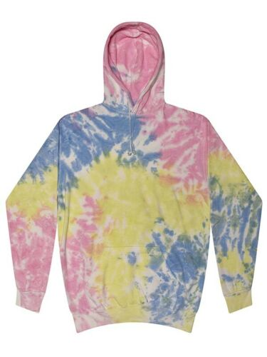 Multi-color Sherbet Tie Dye Hoodie Sweatshirts Adult S to 3XL With Pockets